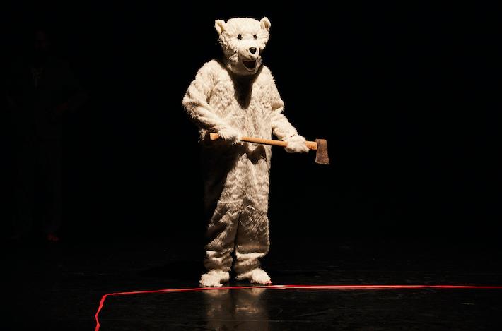 Sitting Down Carefully- The Polar Bear is Dead
