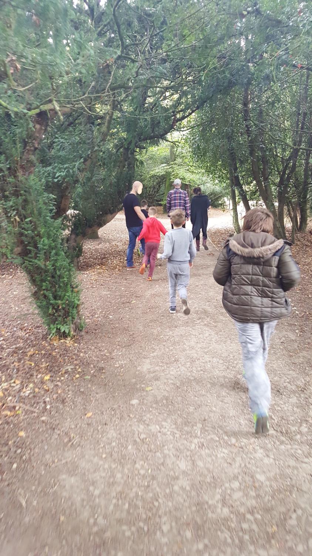 Outdoor family walk